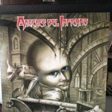 Discos de vinilo: ANGELES DEL INFIERNO-666-1988-ENCARTE LETRAS FIRMADO POR LA BANDA-VINILO NUEVO!!. Lote 126626351