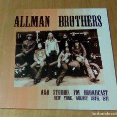Discos de vinilo: ALLMAN BROTHERS - A&R STUDIOS, LIVE IN NEW YORK 26TH AUGUST 1971 (2LP 2016, EGG-346) PRECINTADO. Lote 126639963