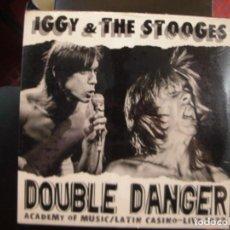 Discos de vinilo: IGGY AND THE STOOGES- DOUBLE DANGER. LP.. Lote 126648895