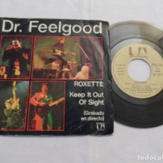 Discos de vinilo: DR. FEELGOOD - ROXETTE / KEEP IT OUT OF SIGHT. Lote 126662907