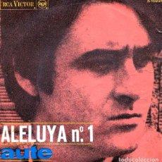 Discos de vinilo: AUTE / ALELUYA Nº 1 / ROJO SOBRE NEGRO (SINGLE 1967). Lote 126671547