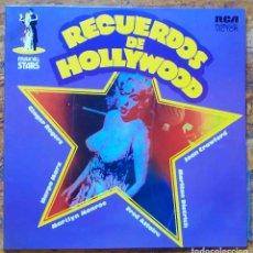 Discos de vinilo: RECUERDOS DE HOLLYWOOD. MARILYN MONROE, GINGER ROGERS, HARPO MARX, MARLENE DIETRICH... LP ESPAÑA. Lote 126700327