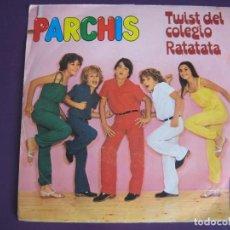 Discos de vinilo: PARCHIS SG BELTER 1982 - TWIST DEL COLEGIO/ RATATATA JUAN PARDO JESUS GLUCK - TVE TELEVISION. Lote 126709379