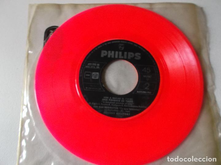 JOHNNY HALLYDAY VEN A BAILAR EL TWIST EP ED ESPAÑOLA 1961 SIN CARATULA (Música - Discos de Vinilo - EPs - Rock & Roll)
