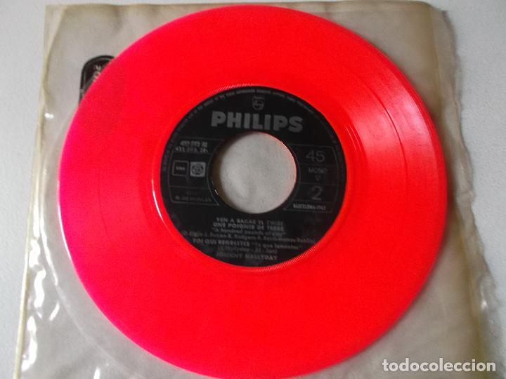 Discos de vinilo: JOHNNY HALLYDAY VEN A BAILAR EL TWIST EP ED ESPAÑOLA 1961 SIN CARATULA - Foto 2 - 126709591