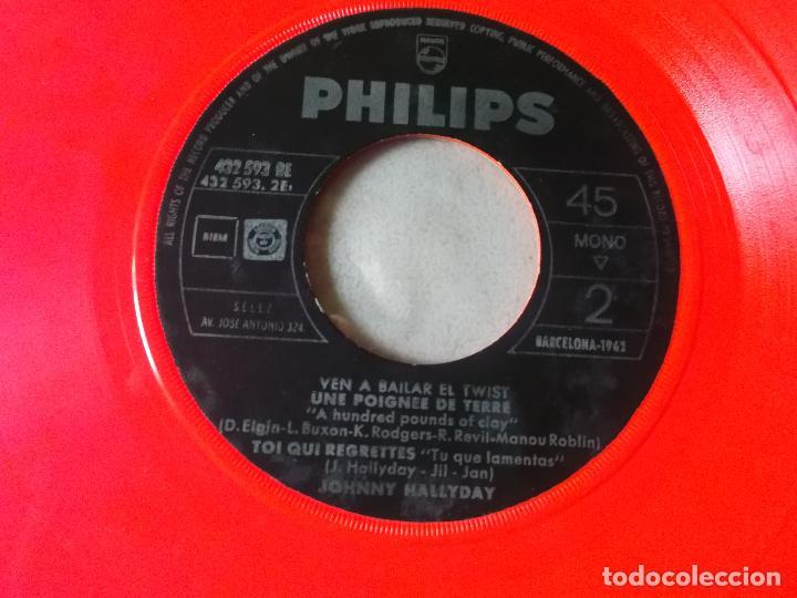 Discos de vinilo: JOHNNY HALLYDAY VEN A BAILAR EL TWIST EP ED ESPAÑOLA 1961 SIN CARATULA - Foto 3 - 126709591