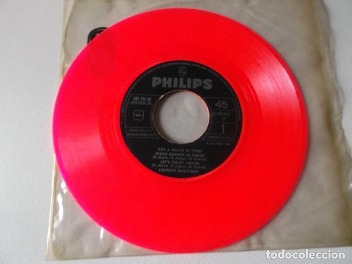 Discos de vinilo: JOHNNY HALLYDAY VEN A BAILAR EL TWIST EP ED ESPAÑOLA 1961 SIN CARATULA - Foto 4 - 126709591