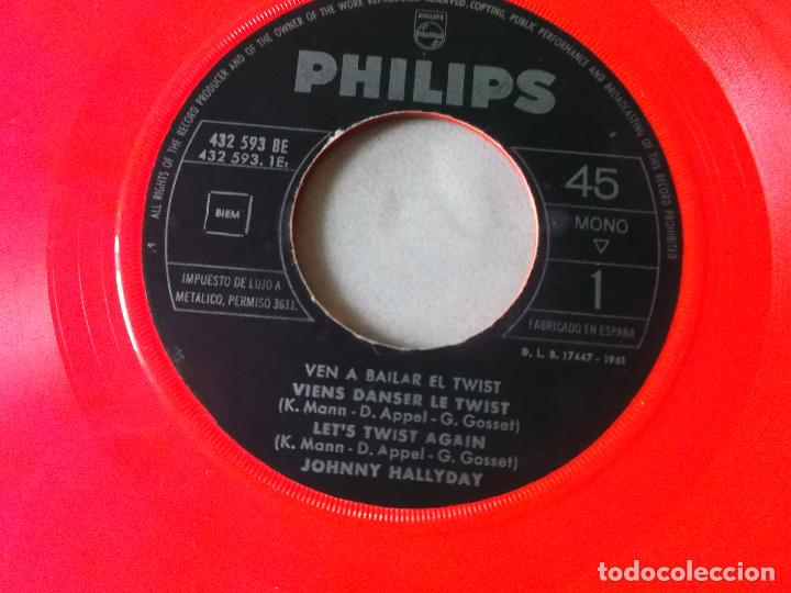 Discos de vinilo: JOHNNY HALLYDAY VEN A BAILAR EL TWIST EP ED ESPAÑOLA 1961 SIN CARATULA - Foto 5 - 126709591