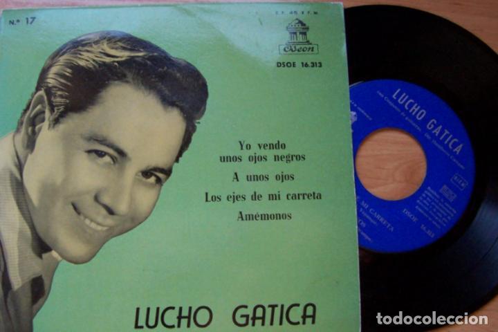 LUCHO GATICA. YO VENDO UNOS OJOS NEGROS... Y OTROS TANGOS (ODEON 1959, 45 RPM) (Música - Discos - Singles Vinilo - Grupos y Solistas de latinoamérica)