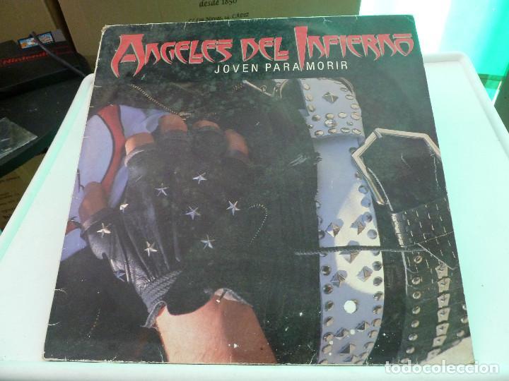 ANGELES DEL INFIERNO - JOVEN PARA MORIR (Música - Discos - LP Vinilo - Heavy - Metal)