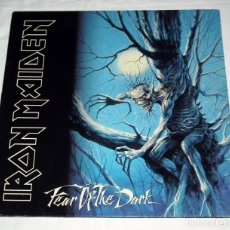 Discos de vinilo: LP IRON MAIDEN - FEAR OF THE DARK. Lote 126725051