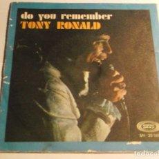 Discos de vinilo - TONY RONALD-DO YOU REMEMBER - 126730439
