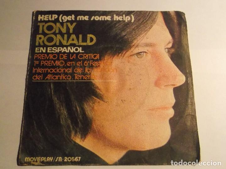 TONY RONALD EN ESPAÑOL-HELP (Música - Discos - Singles Vinilo - Otros estilos)