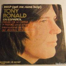 Discos de vinilo: TONY RONALD EN ESPAÑOL-HELP. Lote 126740143