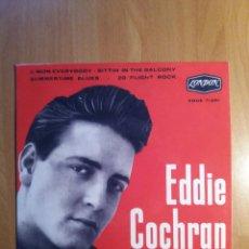 Disques de vinyle: EDDIE COCHRAN PORTADA REPRODUCIDA. Lote 128152680