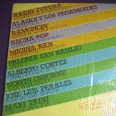 Discos de vinilo: 10 EXITOS EN 2 TIEMPOS LP PROMO HISPAVOX - RADIO FUTURA - ALASKA PEGAMOIDES - NACHA POP - MOVIDA . Lote 126759219