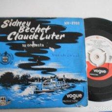 Discos de vinilo: SIDNEY BECHET CLAUDE LUTER-EP OL'MAN RIVER +3. Lote 126792031