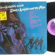 Discos de vinilo: GLADYS KNIGHT AND THE PIPS - '' ALL IN A KNIGHT'S WORK '' LP ORIGINAL USA 1970. Lote 126801171