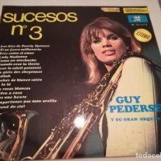 Discos de vinilo: GUY PEDERSEN - SUCESOS Nº 3 - LP MARFER 1968. Lote 126827003