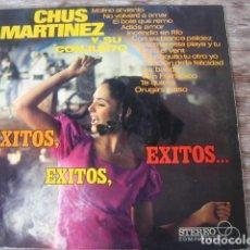 Discos de vinilo: CHUS MARTÍNEZ - EXITOS, EXITOS, ÉXITOS ******* RARO LP SPANISH SOUL ORUGA'S PASO. Lote 126868267