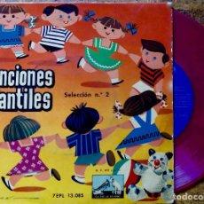 Discos de vinilo: CANCIONES INFANTILES. SELECCION Nº 2. CORO DE NIÑAS Y ORQUESTA. EP VINILO ROSA. Lote 126869383
