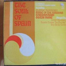 Discos de vinilo: LP - THE SOUL OF SPAIN - JAVIER MARQUEZ, BANDA TORETA LA CORRIDA, REY DE LA TORRE (CAJA CON 3 LP'S). Lote 126887075