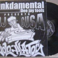 Discos de vinilo: DJ GUSA - SOLO PLATOS - LP 1999 - FUNKDAMENTAL. Lote 126891135