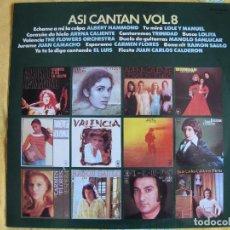 Discos de vinilo: LP - ASI CANTAN VOL. 8 - VARIOS (SPAIN, CBS 1976). Lote 126892227