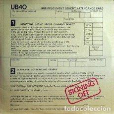 Discos de vinilo: UB40 - SIGNING OFF - GRADUATE RECORDS GRADLP 2 + VR 55120 - 1980 - LP+MAXI - EDICION HOLANDESA. Lote 126900215