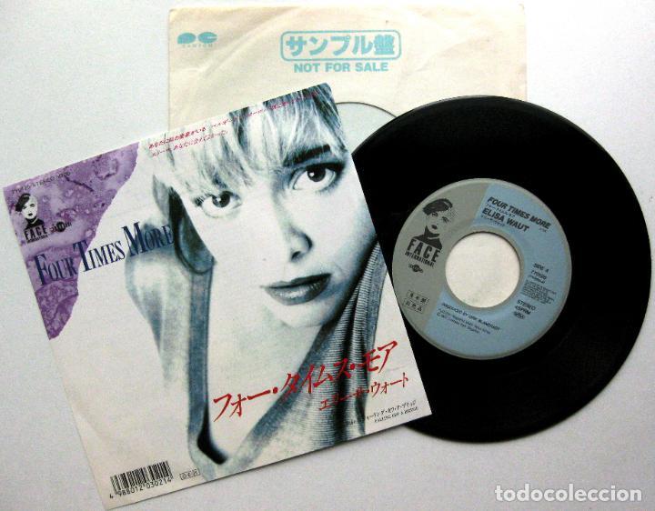 ELISA WAUT - FOUR TIMES MORE - SINGLE FACE INTERNATIONAL 1987 PROMO JAPAN (EDICIÓN JAPONESA) BPY (Música - Discos - Singles Vinilo - Electrónica, Avantgarde y Experimental)