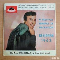 Discos de vinilo: EP RAFAEL MENDOZA Y LOS BIG BOYS. BENIDORM 1963 (POLYDOR). Lote 126940843