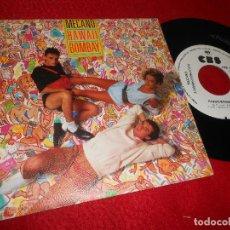 Discos de vinilo: MECANO HAWAII / BOMBAY 7 SINGLE 1985 CBS PROMO MOVIDA POP ANA TORROJA NACHO CANO. Lote 126941651