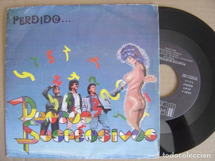 PUNTOS SUSPENSIVOS - PERDIDO - SINGLE 1988 + HOJA PROMO- PAÑOLETA - GRUPOS ANDALUCES CONTRA EL ROLLO (Música - Discos - Singles Vinilo - Grupos Españoles de los 70 y 80)