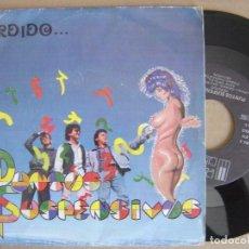 Discos de vinilo: PUNTOS SUSPENSIVOS - PERDIDO - SINGLE 1988 + HOJA PROMO- PAÑOLETA - GRUPOS ANDALUCES CONTRA EL ROLLO. Lote 126942451