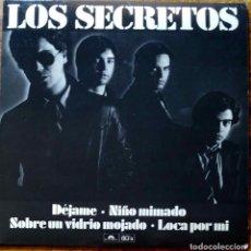 Discos de vinilo: LOS SECRETOS, DÉJAME. EP EDICIÓN NUMERADA Y LIMITADA, NÚMERO 2570. CON FUNDA INTERIOR CON LETRAS. Lote 126954911