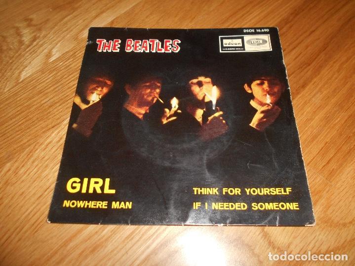 EP THE BEATLES EDITADO EN ESPAÑA NOWHERE MAN-THINK FOR YOURSELF-IF I NEEDED SOMEONE- GIRL (Música - Discos de Vinilo - EPs - Pop - Rock Extranjero de los 50 y 60)