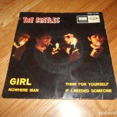 Discos de vinilo: EP THE BEATLES EDITADO EN ESPAÑA NOWHERE MAN-THINK FOR YOURSELF-IF I NEEDED SOMEONE- GIRL. Lote 126959635