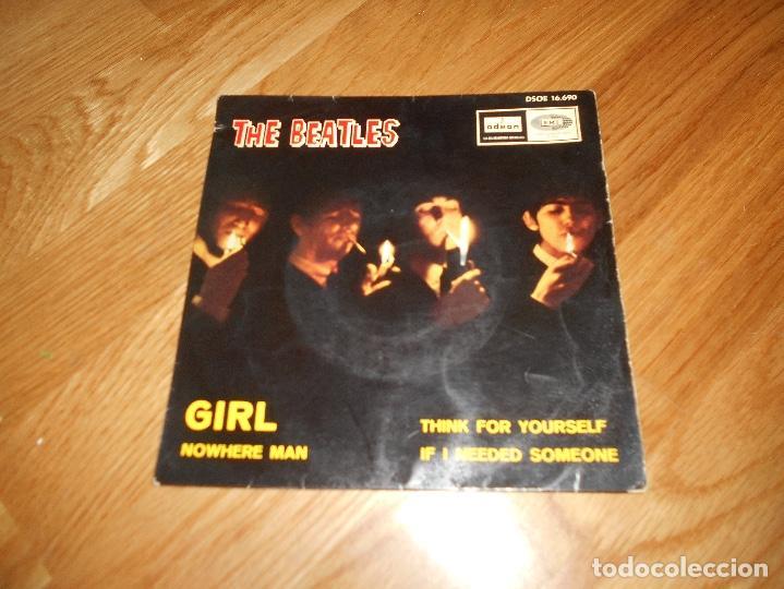 Discos de vinilo: EP THE BEATLES EDITADO EN ESPAÑA NOWHERE MAN-THINK FOR YOURSELF-IF I NEEDED SOMEONE- GIRL - Foto 2 - 126959635