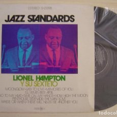 Discos de vinilo: LIONEL HAMPTON Y SU SEXTETO - JAZZ STANDARDS - LP ESPAÑOL 1971 - MCA. Lote 126962027