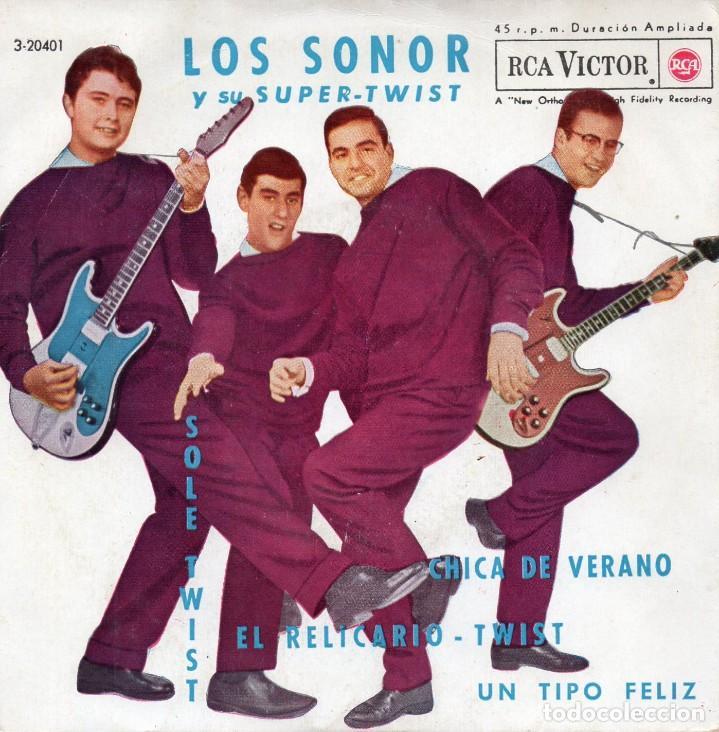 SONOR, EP, SOLE-TWIST + 3, AÑO 1962 (Música - Discos de Vinilo - EPs - Grupos Españoles 50 y 60)