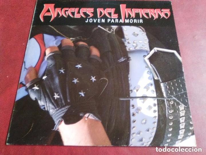 ANGELES DEL INFIERNO JOVEN PARA MORIR BARON ROJO, OBUS,VADE RETRO,PANZER,SANTA,ÑU. (Música - Discos - LP Vinilo - Heavy - Metal)