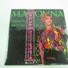 Discos de vinilo: VINILO JAPONÉS DE MADONNA DRESS YOU UP AIN'T NO BIG DEAL - 45 RPM. Lote 127013931
