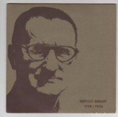 Discos de vinilo: SINGLE VINILO DISCO BERTOLT BRECHT. Lote 127068719