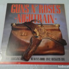 Discos de vinilo: GUNS N' ROSES - NIGHTRAIN / KNOCKING ON HEAVEN'S DOOR (LIVE). Lote 127072019