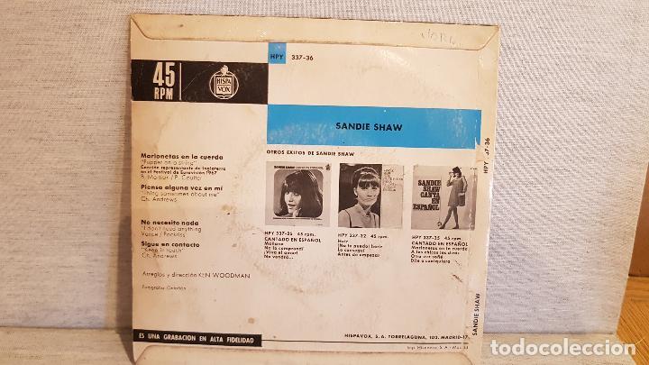 Discos de vinilo: SANDIE SHAW / EUROVISIÓN 67 / EP - HISPAVOX / MBC. ***/*** - Foto 2 - 127103183