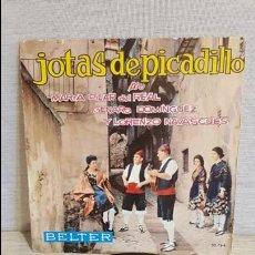 Discos de vinilo: JOTAS DE PICADILLO / DEL REAL / GENARO Y NAVASCUES / EP - BELTER - 1963 / MBC. ***/***. Lote 127104939