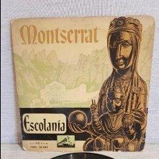 Discos de vinilo: ESCOLANÍA DE MONTSERRAT / EP - LA VOZ DE SU AMO / AÑOS 50 / MBC. ***/***. Lote 127105491