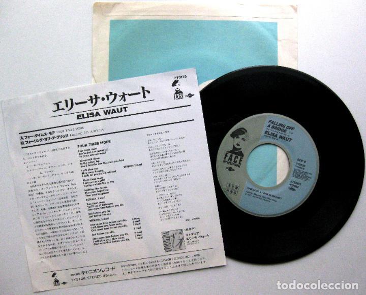 Discos de vinilo: Elisa Waut - Four Times More - Single Face International 1987 PROMO Japan (Edición Japonesa) BPY - Foto 2 - 126918455