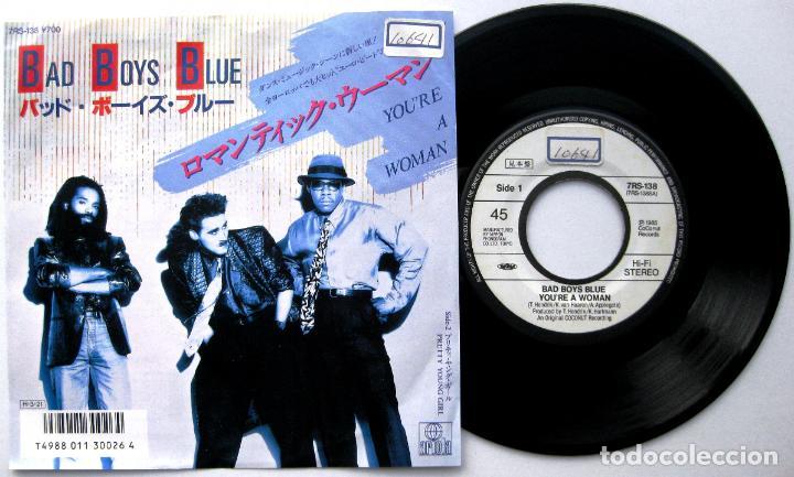 BAD BOYS BLUE - YOU'RE A WOMAN - SINGLE ARIOLA 1986 PROMO JAPAN (EDICIÓN JAPONESA) BPY (Música - Discos - Singles Vinilo - Disco y Dance)