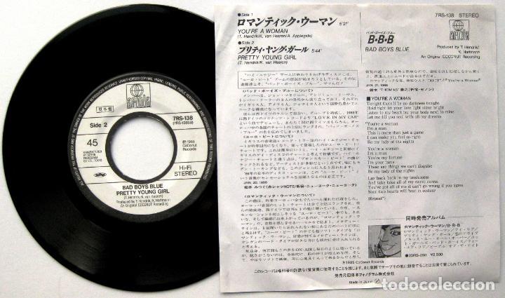 Discos de vinilo: Bad Boys Blue - Youre A Woman - Single Ariola 1986 PROMO Japan (Edición Japonesa) BPY - Foto 2 - 127135343